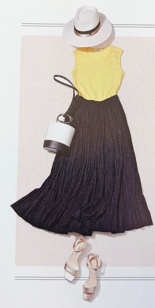 00f0c5f381da0 「黄色とネイビー」「黄色とブラック」で、シャープでかっこいいイメージを演出!他のタイプの人が着るとインパクトが強すぎる配色も、ウインターの艶やかな黒髪、目力  ...